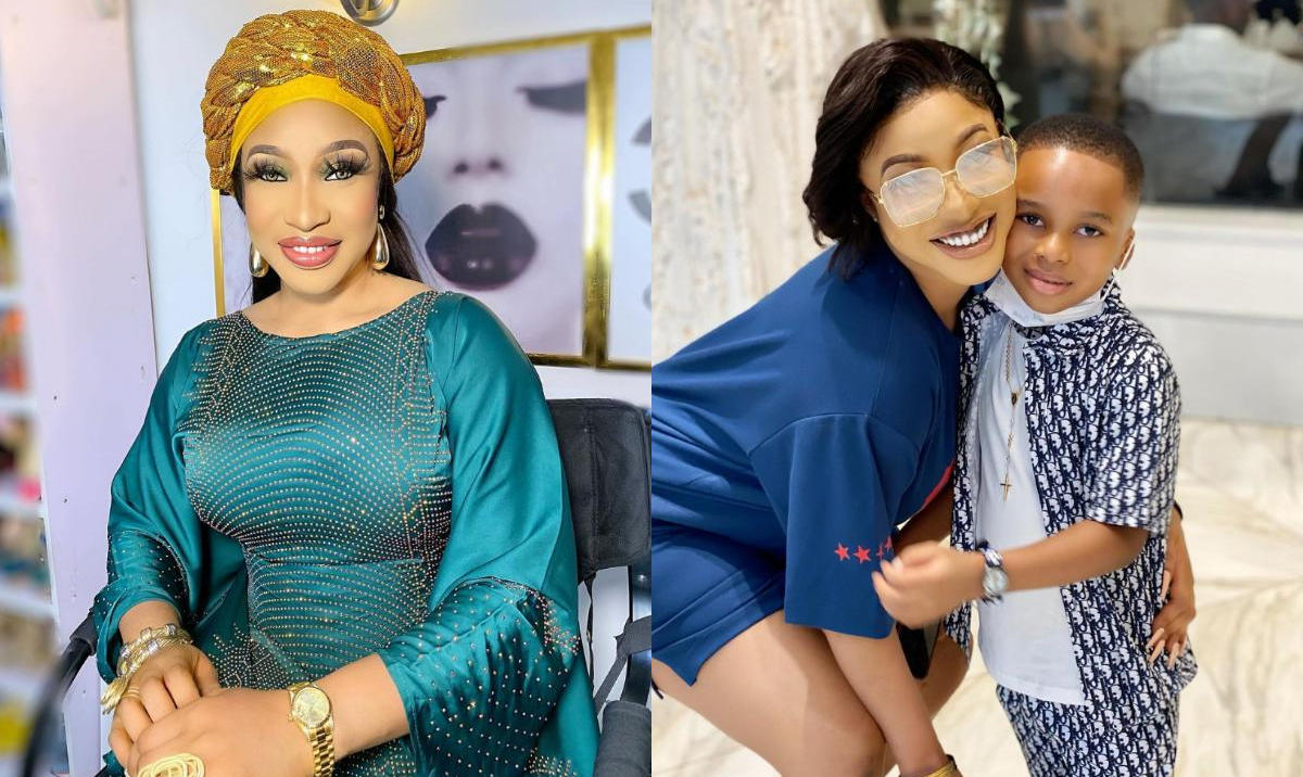 Scared Leaving My Son Behind Tonto Dikeh - Amebo Book
